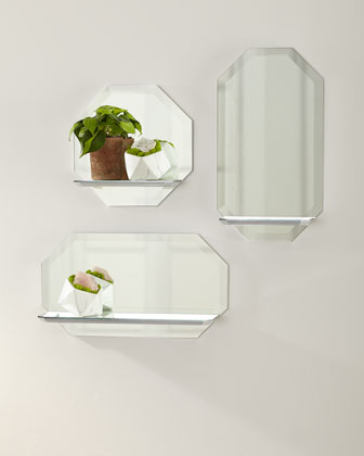 Octagon Wall Shelf Mirror - Vertical and Matching Items