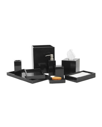 Eris Collection Jet Black Soap Dispenser  and Matching Items