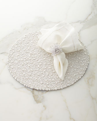 Bianco Beaded Placemat