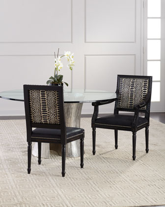 Maurepas Leather Dining Side Chair  and Matching Items