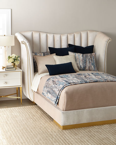 Moira Snow Channel Tufted California King Bed