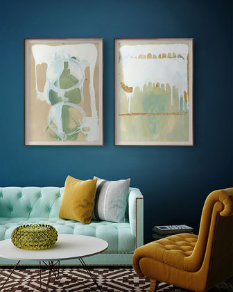 Port del Aqua Diptych Panel 2 by Zoe Bios  and Matching Items