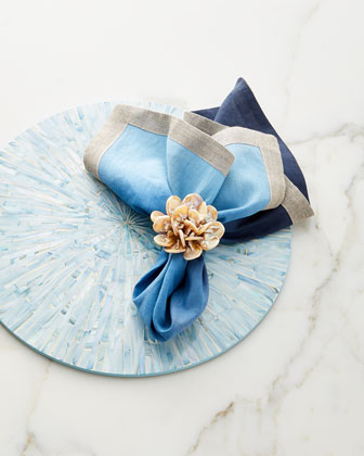 Dip-Dye Linen Napkin  Navy/Blue and Matching Items