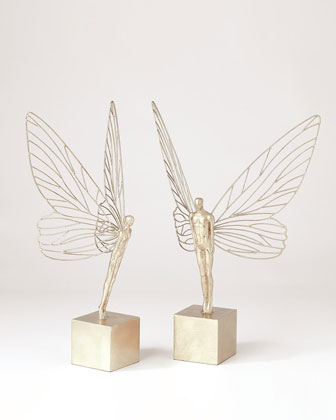 Winged Man Sculpture  and Matching Items