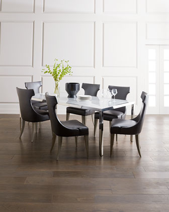 Arcadia Stainless Steel Dining Table and Matching Items