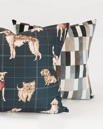 Dog Daze Midnight Pillow  and Matching Items