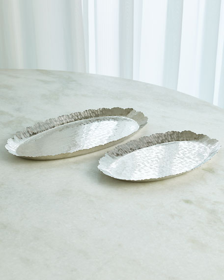 Large Hammered Oval Tray
