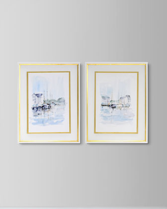 New England Port I Giclee Art  and Matching Items