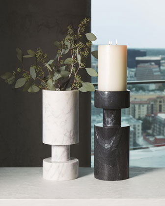 Luc Black Marble Vase  and Matching Items