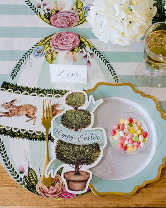 Boxwood Bunny Egg Placemats  and Matching Items