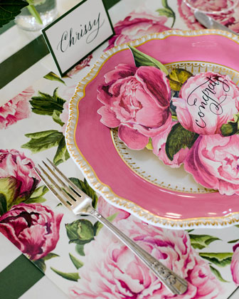 Peonies in Bloom Placemats  and Matching Items