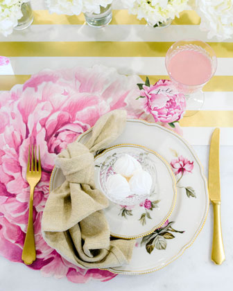 Peony Placemats  and Matching Items