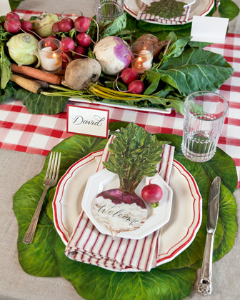 Cabbage Placemats  and Matching Items