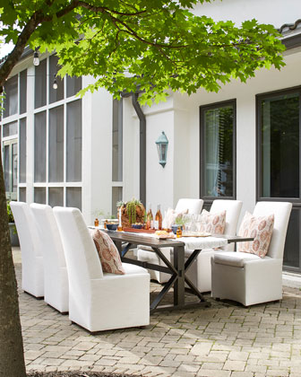 Mystic Harbor Outdoor Rectangle Dining Table and Matching Items