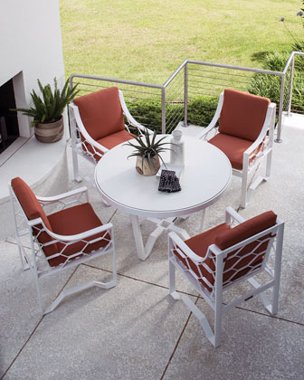 Biscayne Bay Outdoor Round Dining Table  and Matching Items