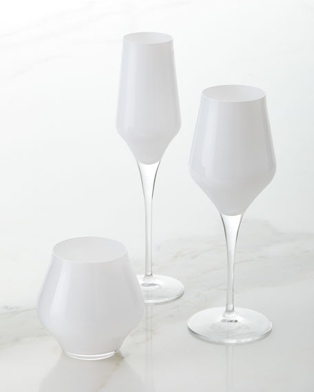 Contessa White Stemless Wine Glass