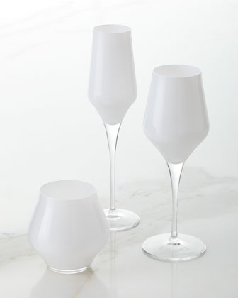 Contessa White Stemless Wine Glass  and Matching Items