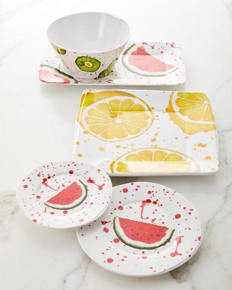 Melamine Fruit Watermelon Dinner Plate