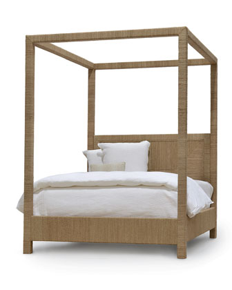 Woodside Canopy King Bed  White Sand  and Matching Items