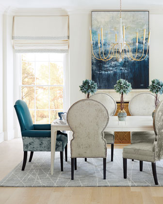 Calista Dining Table and Anjolie Dining Side Chair
