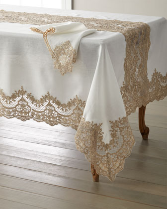Antique Lace 72 x 108 Tablecloth & 12 Napkins  and Matching Items