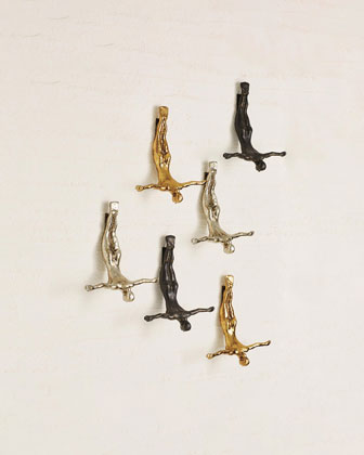 Female Wall Diver  Bronze  and Matching Items