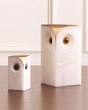 Alabaster Owl - Large  and Matching Items