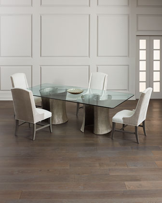 Serpentine Double Pedestal Dining Table and Matching Items