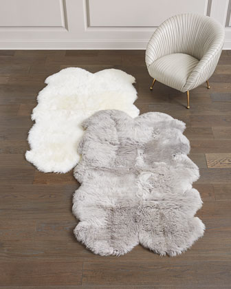 Ivory Sheepskin Rug  4' x 6' and Matching Items