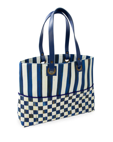 MacKenzie-Childs Royal Check Bistro Tote Bag