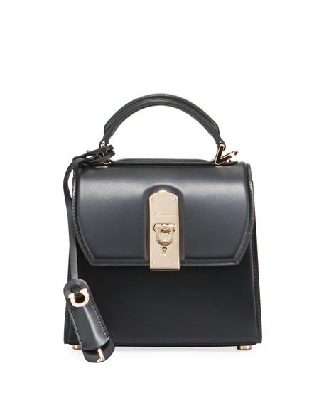 Salvatore Ferragamo Boxyz Piccolo Leather Shoulder Bag