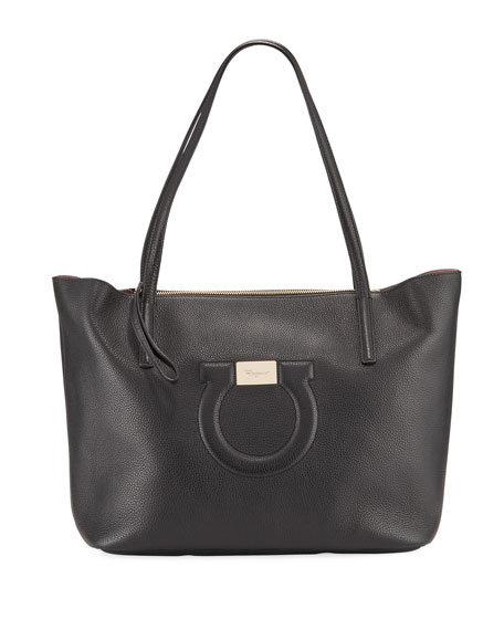 Salvatore Ferragamo City Medium Leather Shoulder Tote Bag