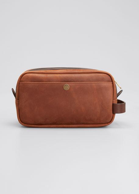 Brunello Cucinelli Men's Leather Beauty Case