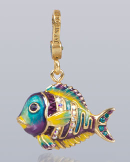 Jay Strongwater Linus Tropical Fish Charm