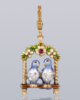 Jay Strongwater Lucy & Carl Lovebirds Charm