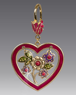 Heart & Flowers Key Ring