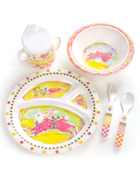MacKenzie-Childs Toddlers' Bunny Dinnerware Set