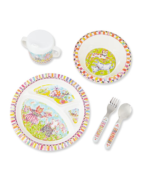 Toddlers' Bow Wow Meow Dinnerware Set