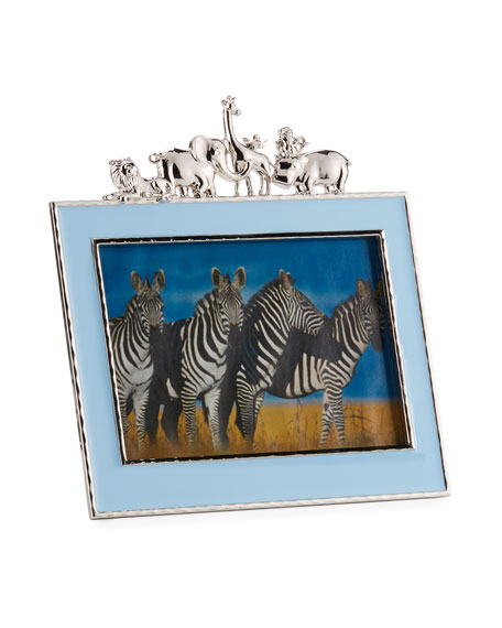 "Boys' Animals 5"" x 7"" Frame, Blue"