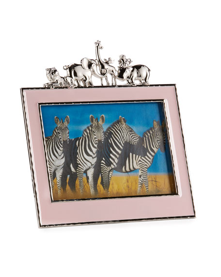 "Girls' Animals 5"" x 7"" Picture Frame, Pink"