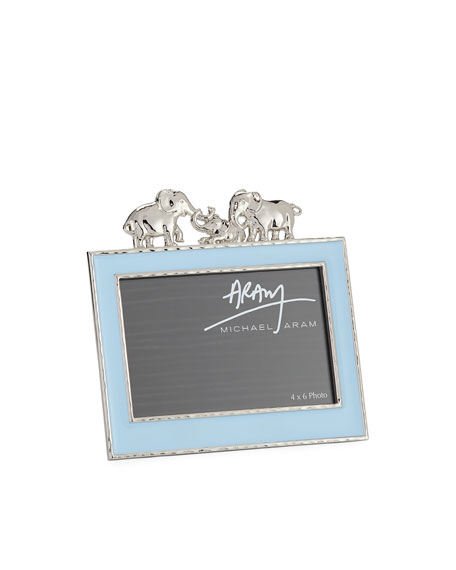 "Boys' Elephant 4"" x 6"" Picture Frame, Blue"