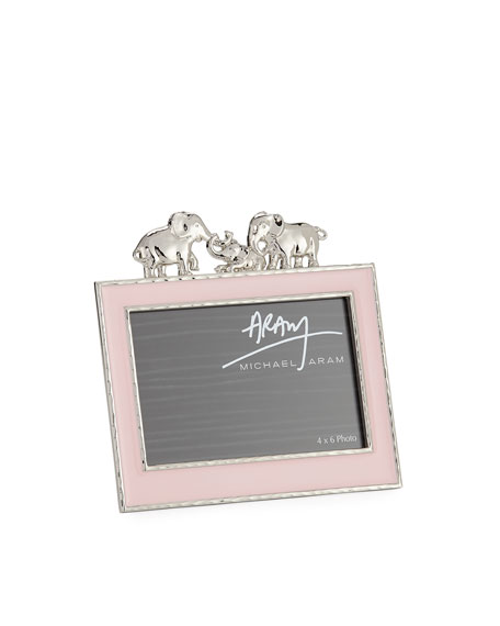 "Girls' Elephant 4"" x 6"" Picture Frame, Pink"