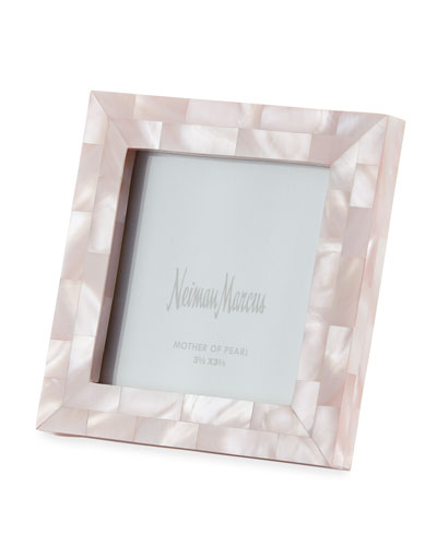 Mother-of-Pearl Frame, Pink, 3.5