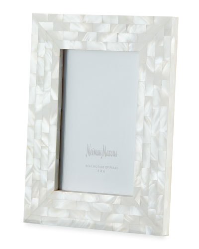 Mother-of-Pearl Frame, White, 4