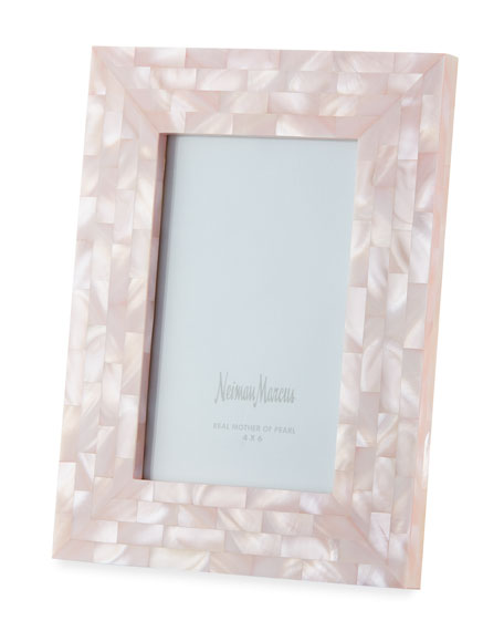 "Mother-of-Pearl Frame, Pink, 4"" x 6"""