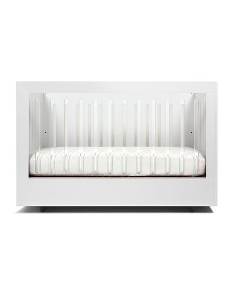 Roh Crib with 1 Acrylic Side, White