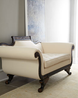 "Old Hickory Tannery ""Ellsworth"" Neutral Duncan Loveseat"