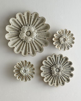 "NM EXCLUSIVE Four-Piece ""Elizabeth"" Floral Wall Decor"