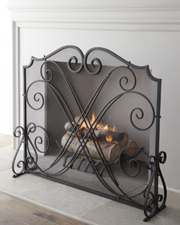 """Dancing Scrolls"" Fireplace Screen"