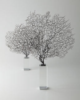 "Arteriors Two ""Corrine"" Coral Sea Fan Sculptures"